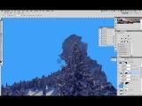 Снежный мэт пейтинг по рисованию горного пейзажа в Photoshop. Урок 2